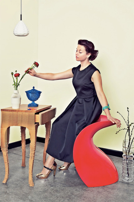 Lucy-Johnston-with-eight-objects-by-artists-featured-in-her-book-'Digital-Handmade'