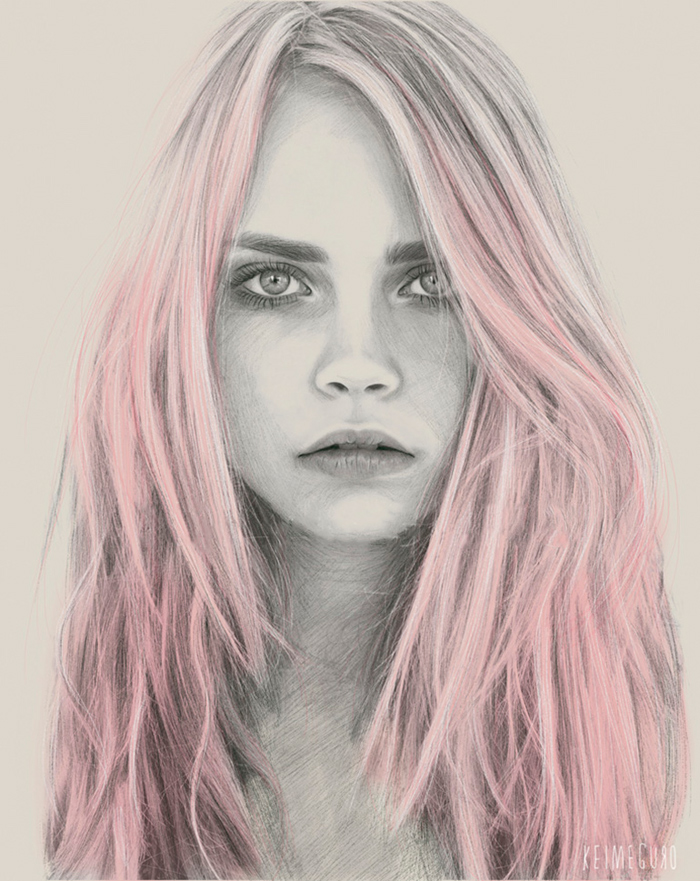 kei-meguro-amazing-pencil-illustration-portraits-1