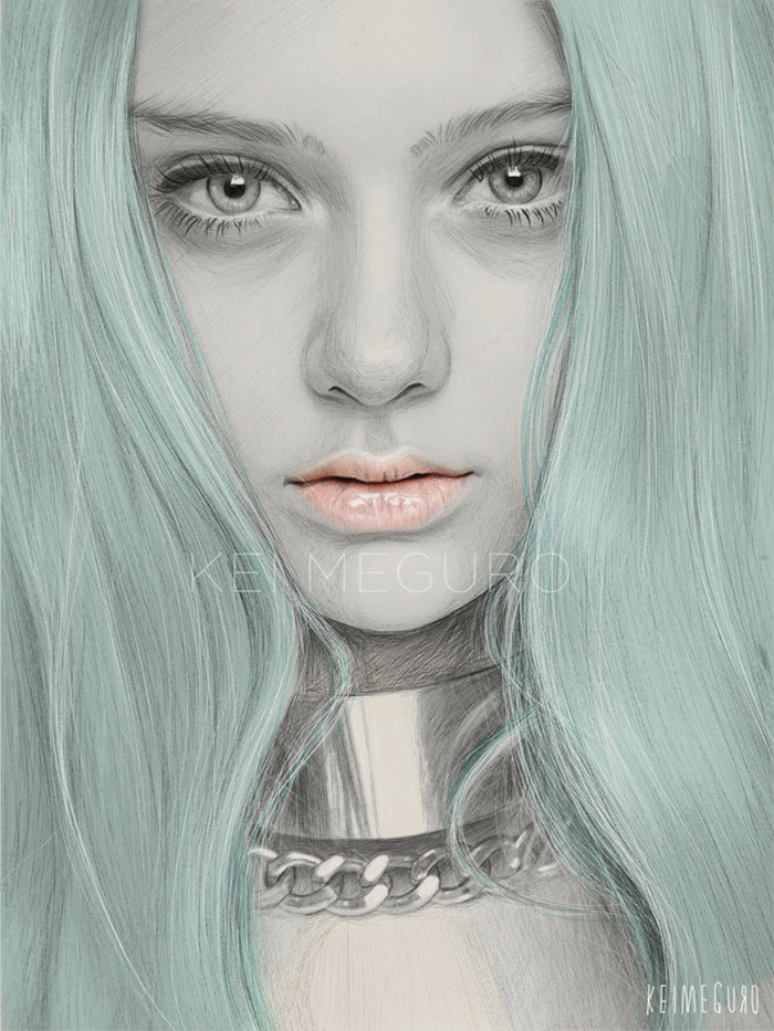 kei-meguro-amazing-pencil-illustration-portraits-3