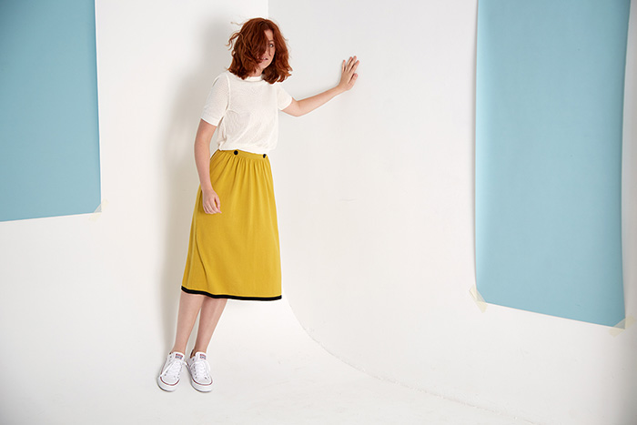 ROYAL_CABALLITO_Twilight_top_white_and_overall_mustard_campaign