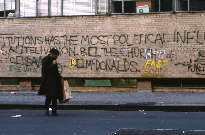 la mayor retrospectiva de Jean-Michel Basquiat on the set of Downtown 81 'THESE INSTITUTIONS HAS THE MOST POLITICAL INFLUENCE A