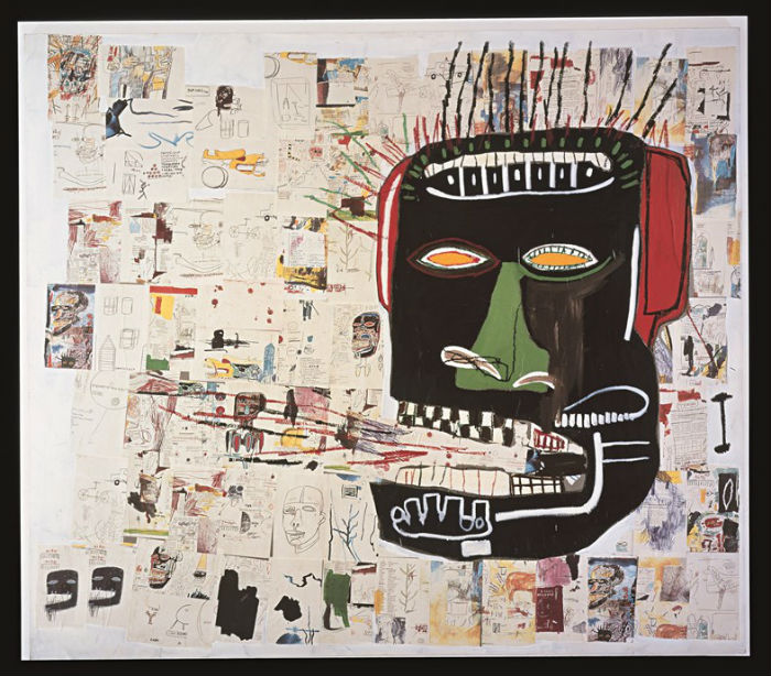 la mayor retrospectiva de Jean-Michel Basquiat_Glenn 1985