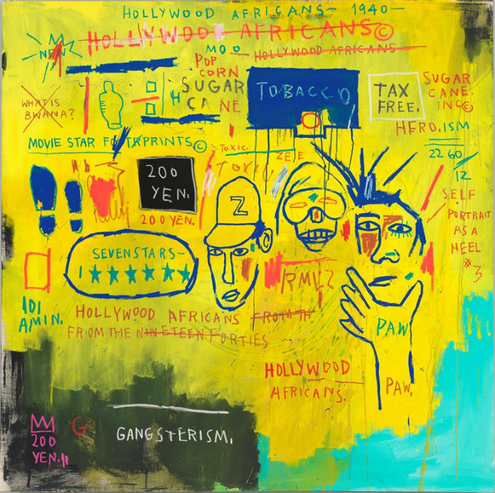 la mayor retrospectiva de Jean-Michel Basquiat_Hollywood Africans 1983