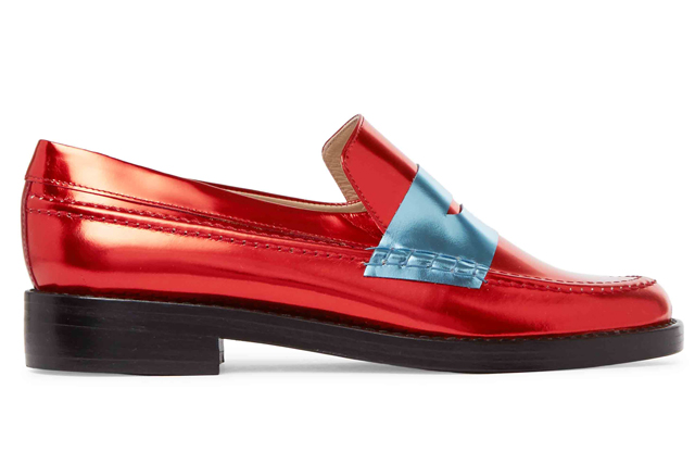 The-alternative-to-bare-feet-loafer-(Red-metallic)-at-NET-A-PORTER