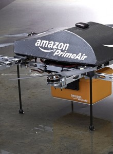 Handout photo of an Amazon PrimeAir drone