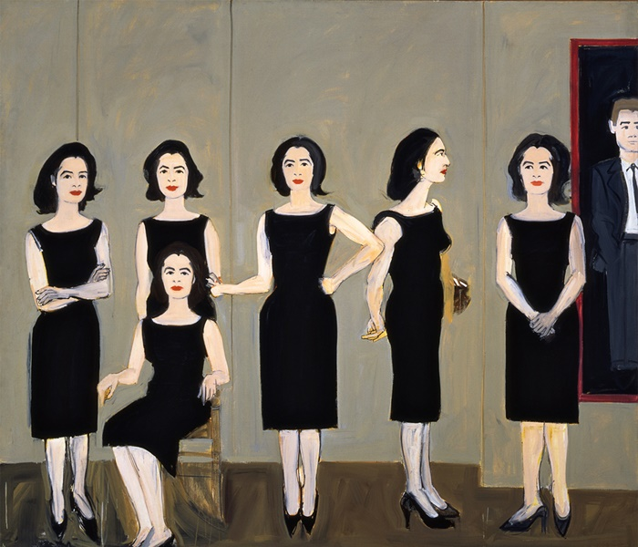 The Black Dress (1960) by Alex Katz