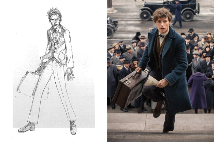 dESIGNS BY COLLEEN ATWOOD, SKETCH BY WARREN HOLDER; COURTESY OF WARNER BROS. PICTURES