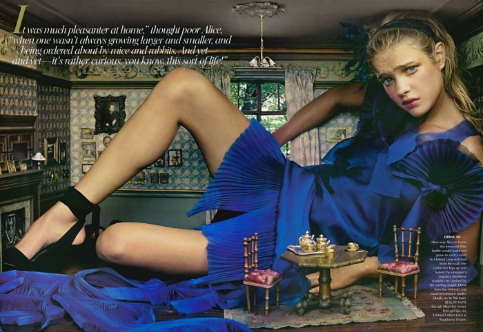 Natalia Vodionova en Vogue USA 2003
