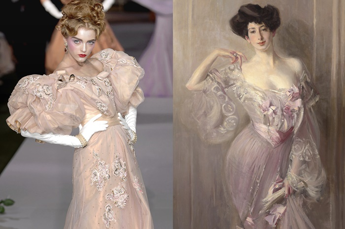 Christian Dior Haute Couture Fall 2007 _ Portrait of Betty Wertheimer by Giovanni Boldini, 1902