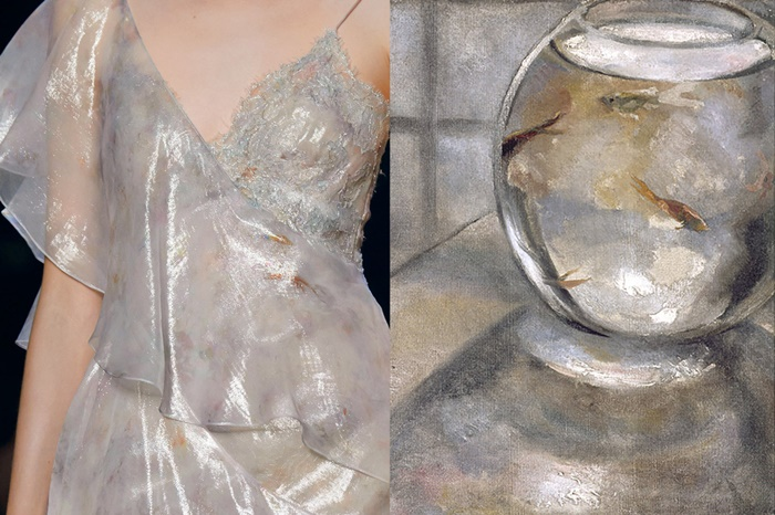 Details at Marchesa Spring 2017 _ Painting by Jacques Henri Lartigue