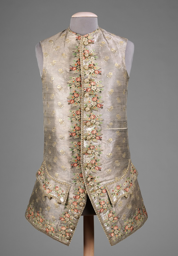 1750. British. silk, metal, linen. metmuseum