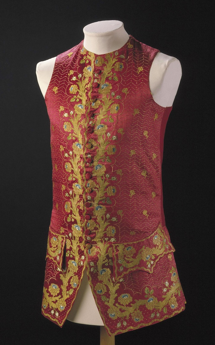 1765. British. Brocaded silk. © Victoria and Albert Museum, London