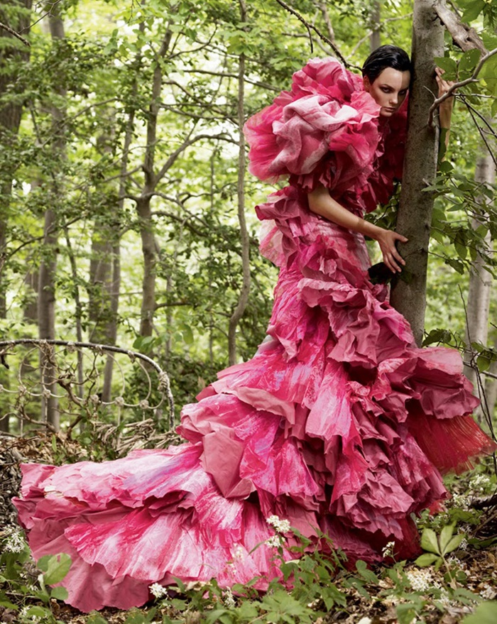 Christian Lacroix, Dress, photographed by Craig McDean for Vogue, 2002