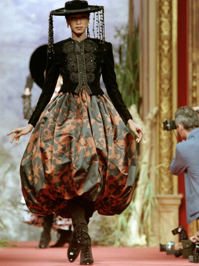 Katoucha for Christian Lacroix Haute Couture Fashion Show, FallWinter 1987