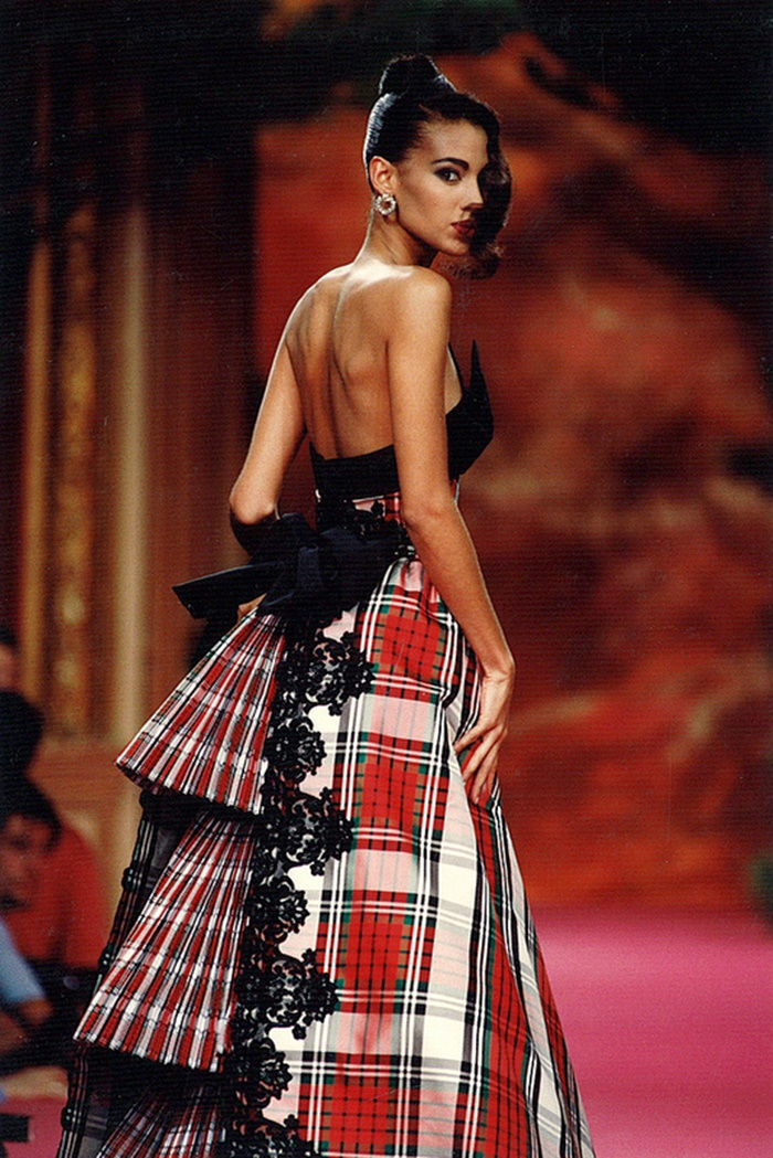 Sonia Cole for Christian Lacroix Haute Couture Fashion Show, FallWinter 1991