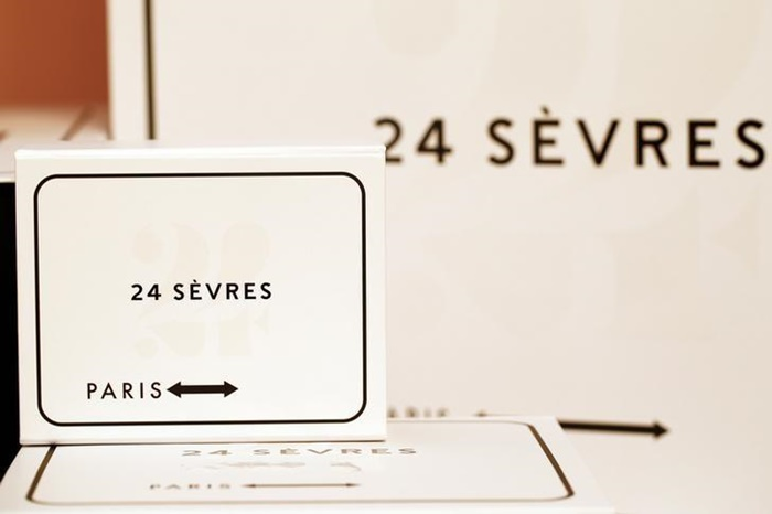 """Delivery boxes of the new """"24 Sevres"""" website are displayed in Paris"""