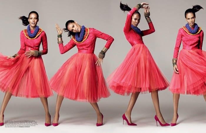 Editorial Joan Smalls for Vogue Turkey December 2012 in Dance Baby Dance