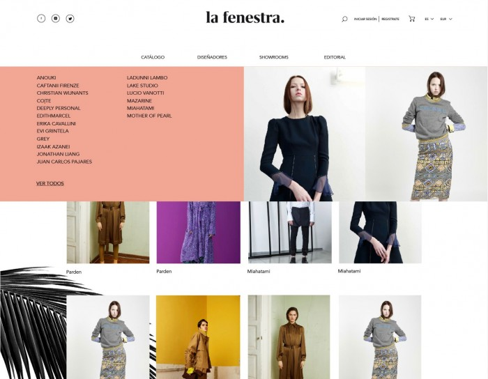 lafenestra.com menu despegable