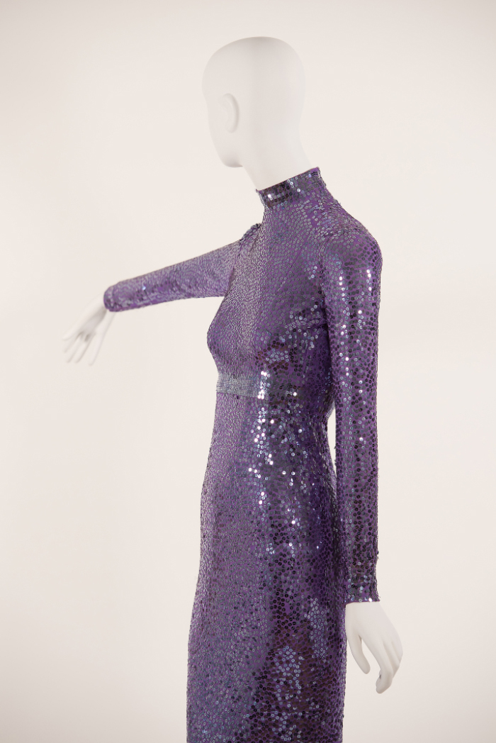 Norell, sequined evening dress, 1965.